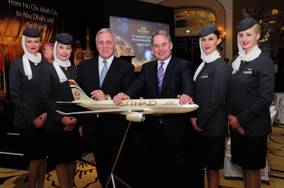 Etihad Airways to Launch Daily Flights to HCMC in Late 2013