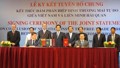 Vietnam, Customs Union Conclude FTA Negotiations
