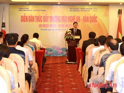 Nghe An Boosting Trade Cooperation with South Korea
