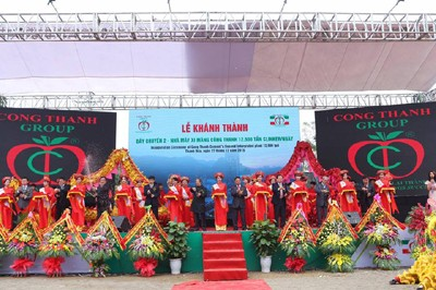 Cement Production Line Opens in Thanh Hoa