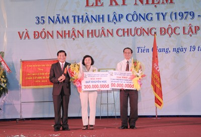 Tien Giang Lottery Co., Ltd Bringing Fine Values for Society