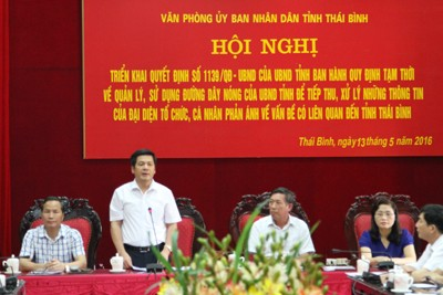 Thai Binh Provincial Government's Hotline Launched