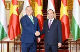 Vietnam PM Phuc and Hungary PM Orbán. Photo: VGP/Quang Hieu