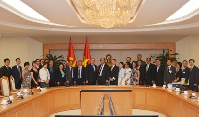 Minister-Chairman of the Government Office Mai Tien Dung holds a working session with a business delegation from the US-ASEAN Business Council, led by Senior Vice President and Regional Managing Director Michael Michalak, Ha Noi, July 11, 2018 - Photo: VG