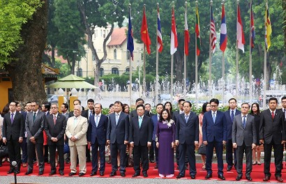 The Ministry of Foreign Affairs (MFA) organizes a flag raising ceremony on the occasion of the 51st founding anniversary of ASEAN (August 8, 1967), Ha Noi, August 8, 2018 - Photo: VGP/Hai Minh