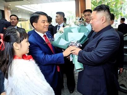 DPRK Chairman Kim Jong-un Arrives in Hanoi