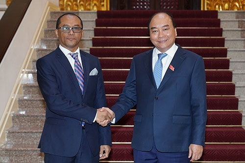 PM Receives Timor Leste Foreign Minister