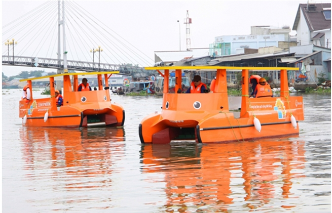 Hanwha Launches Solar-Powered Mekong River Clean-up Campaign in Vietnam
