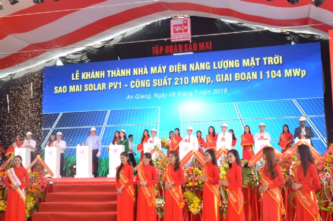 Sao Mai Group Inaugurates Solar PV1 Power Plant