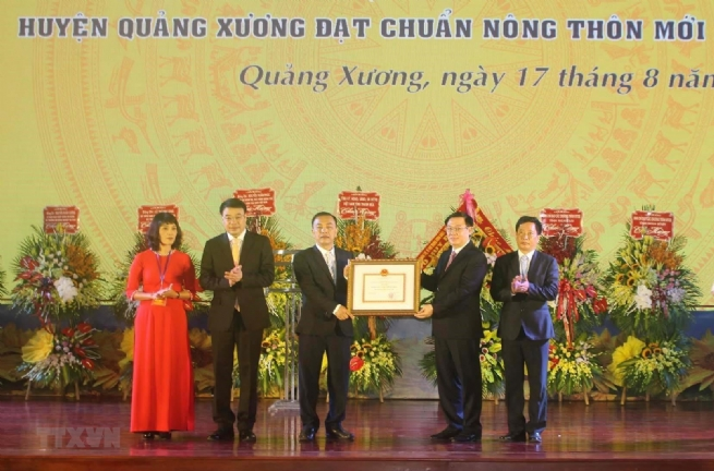 Quang Xuong District Certified New Countryside Standard
