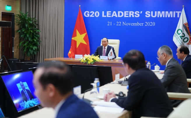PM Phuc Urges G20 Members to Help Developing Countries Realize SDGs