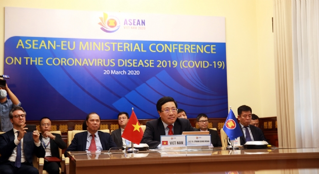 It Right Time For ASEAN, EU To Strengthen Cooperation In COVID-19 Combat, DPM Minh says