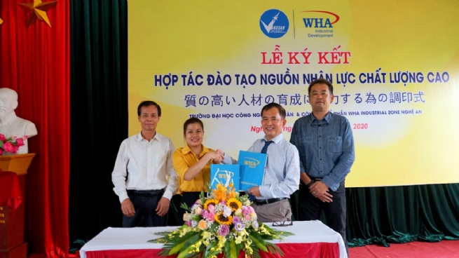 WHA Industrial Zone Nghe An JSC and Van Xuan University of Technology Sign MOU for Collaboration in Education and Recruitment