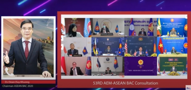 ASEAN BAC Co-Chair Doan Duy Khuong Puts forth Recommendations at DialoguewithASEAN Economic Ministers